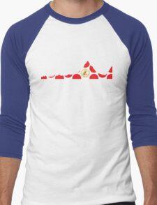 Red Polka Dot 2014 L'Etape du Tour Mountain Profile Men's Baseball ¾ T-Shirt