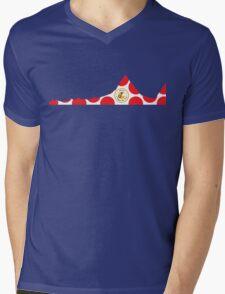 Red Polka Dot 2014 L'Etape du Tour Mountain Profile Mens V-Neck T-Shirt