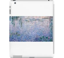 Claude Monet - The Water Lilies - Clear Morning with Willows (1915 - 1926)  iPad Case/Skin