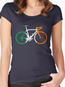 Bike Flag Ireland (Big) Women's Fitted Scoop T-Shirt