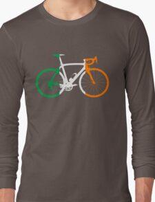 Bike Flag Ireland (Big) Long Sleeve T-Shirt