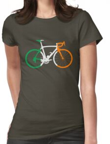 Bike Flag Ireland (Big) Womens Fitted T-Shirt