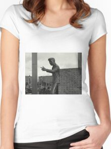 Billy Fury Statue. Women's Fitted Scoop T-Shirt