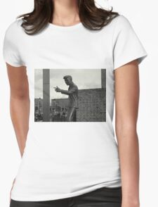 Billy Fury Statue. Womens Fitted T-Shirt