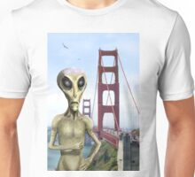 Alien Vacation - Golden Gate Bridge Unisex T-Shirt