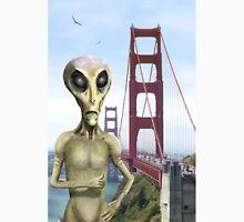 Alien Vacation - Golden Gate Bridge Unisex T-Shirt