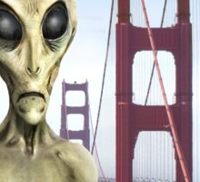 Alien Vacation - Golden Gate Bridge Sticker