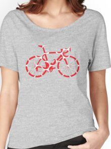 Bike Red Polka Dot (Big) Women's Relaxed Fit T-Shirt