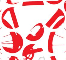 Bike Red Polka Dot (Big) Sticker