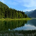 Reflections in the lake Alleghe by annalisa bianchetti