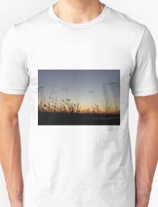 Sunset With Plants Unisex T-Shirt