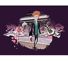 Graffiti boy in the street Photographic Print