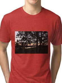 Tree And Sunset Tri-blend T-Shirt