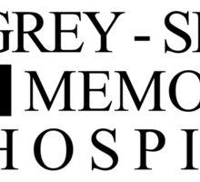 Grey Sloan Logo Hospital Greys Anatomy Sticker