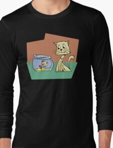 Eyes on the prize Cat Long Sleeve T-Shirt
