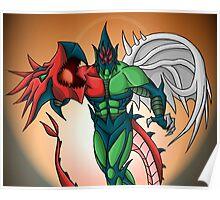Yu-Gi-Oh! GX Elemental Hero Flame Wingman Poster