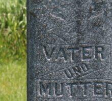 German Grave In St. Andrews Cemetery Sticker