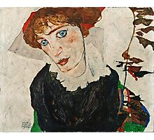 Egon Schiele - Portrait of Wally Neuzil (1912)  Photographic Print
