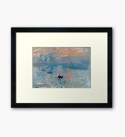 Claude Monet - Impression Sunrise 1872 Framed Print