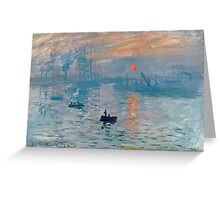 Claude Monet - Impression Sunrise 1872 Greeting Card