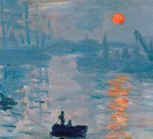 Claude Monet - Impression Sunrise 1872 Sticker