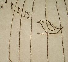 singing bird by printmakermama