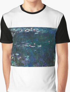 Claude Monet - The Water Lilies - Green Reflections (1915 - 1926)  Graphic T-Shirt