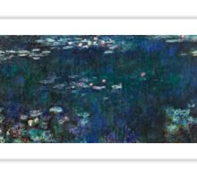 Claude Monet - The Water Lilies - Green Reflections (1915 - 1926)  Sticker