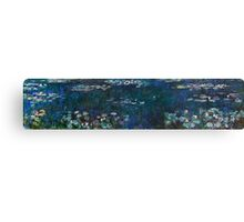 Claude Monet - The Water Lilies - Green Reflections (1915 - 1926)  Canvas Print