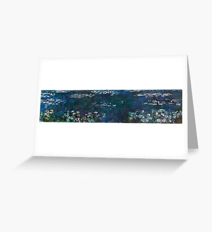 Claude Monet - The Water Lilies - Green Reflections (1915 - 1926)  Greeting Card