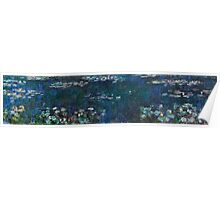 Claude Monet - The Water Lilies - Green Reflections (1915 - 1926)  Poster