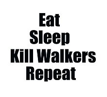 Eat, Sleep, Kill Walkers, Repeat by shaunsaliba