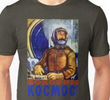 Conquer Space - Retro Soviet Space Poster - Propaganda Unisex T-Shirt