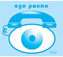 Eye Phone Photographic Print
