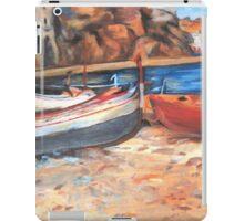 Boats on shore iPad Case/Skin