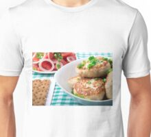 Homemade meatballs close up on the table Unisex T-Shirt