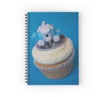 Blue Cinderella Carriage Cupcake  Spiral Notebook