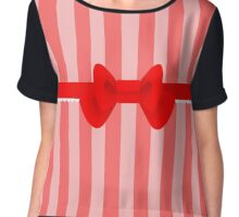 Simple bow -ver1 Chiffon Top