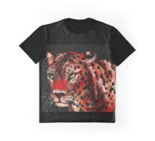 Red Leopard Graphic T-Shirt