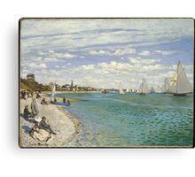 Claude Monet - Regatta At Sainte Adresse 1867 Canvas Print