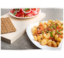 Cavatappi Pasta with sauce of stewed vegetables Poster