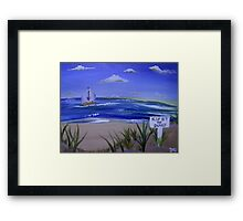 Keep Off the Dunes  Framed Print