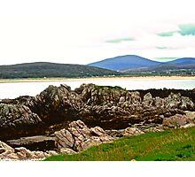 Craggy Rocks, Inishowen Peninsular, Donegal, Ireland Photographic Print