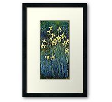 Claude Monet - Yellow Irises ( 1914 -  1917)  Framed Print