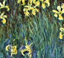 Claude Monet - Yellow Irises ( 1914 -  1917)  Sticker