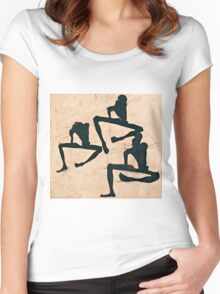 Egon Schiele - Composition with Three Male Nudes (1910)  Women's Fitted Scoop T-Shirt