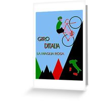 """GIRO D ITALIA BICYCLE"" Racing Advertising Print Greeting Card"