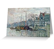 Claude Monet - View of the Prins Hendrikkade and the Kromme Waal in Amsterdam 1874  Greeting Card