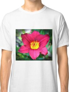 Vibrant Red Lily Classic T-Shirt