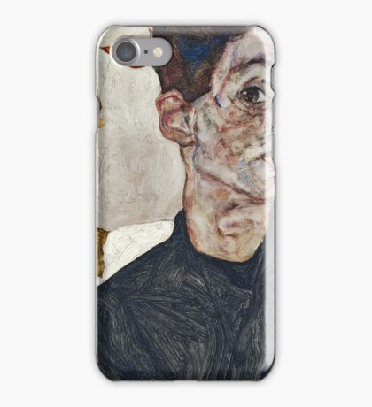 Egon Schiele - Self Portrait with Chinese Lantern Plant (1912)  iPhone Case/Skin